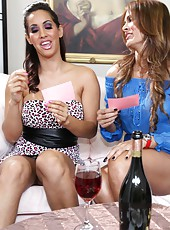 Monique Fuentes playing with her lesbian neighbor Isis Love in adult games