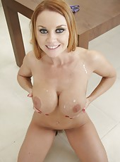 Cute and arrogant milf Janet Mason rides cock and makes a blowjob