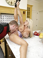 Plush pornstar High Heels getting a delicious dagger for showing big tits