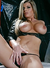 Cool Kristal Summers posing in sexy uniform and showing delicious tits