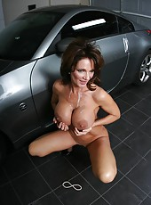 Astounding milf Deauxma prefers to with a big young cock is fucking her