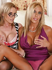 Kylie Worthy and her milf friend Misty Vonage trying to reach multiple orgasms