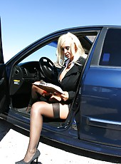 Hot office milf babe Britney O