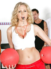 Wild mature Julia Ann swallowing and riding a big delicious pecker