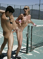 Snazzy milf Nicole Sheridan getting naughty with her handsome coach