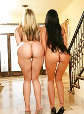 Beautiful lesbian scene with naughty girls named Delilah Strong and Hailey Star