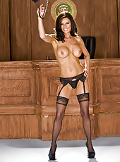 Sumptuous and elegant Veronica Avluv looks fantastic in her gorgeous lingerie