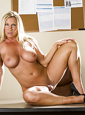 Hardcore mature blonde Devon Lee and her boundless, big tits and hungry pussy