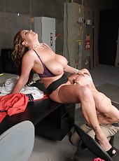 Mature, experienced and super busty milf Eva Notty got a powerful cock