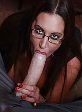 Charming milf Emma Butt seduces young politician in her super hot stockings