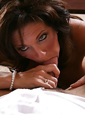 Busty brunette mommy Deauxma gets her neighbor
