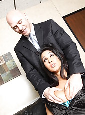 Busty business woman Isis Love enjoys fucking with her big dicked manager