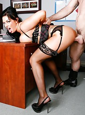 Unforgettable brunette milf Kerry Louise got her colleague