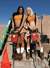 Hot outdoor scene with nasty lesbian angels named Kenzi Marie and Savannah Stern