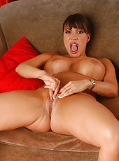 Beautiful milf Ava Devine plays with her sweet and shaved pussy