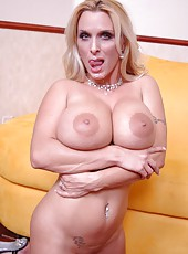 Milf with giant beautiful tits named Holly Halston enjoys this hot anal action W