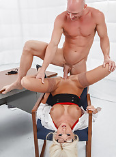 Hardcore and hot fuck with a naughty blonde nurse named Rikki Six