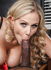 Crazy hot interracial fucking scene with busty blonde doctor Julia Ann and black patient