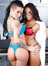 Two crazy hot lesbians Asa Akira and Christy Mack are dreaming about something huge