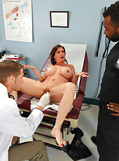 Anal healing for milf with big tits and shaved pussy named Diamond Foxxx