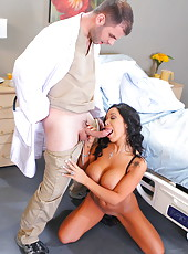 Extremely busty brunette milf Sienna West can not resist and seduces her doctor