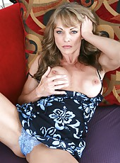 Alluring beauty Shayla LaVeaux stripping in high heels and fingering