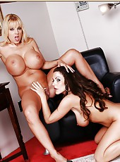 Two hot milfs with Harmony Bliss are having a lot of fun and pleasure