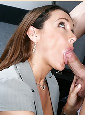 Wonderful slut Michelle Lay rides a hard dagger and gets a real creampie