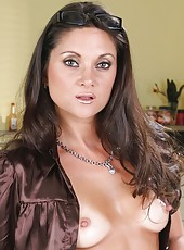 Horny housewife Stephanie Swift has super hot time while her husband is away