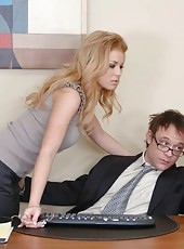 Perfect office fucking action with busty milf Gia Marley and her shaved pussy