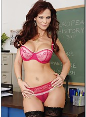 Naughty and buxom teacher Mrs. Syren De Mer prepared a special lesson