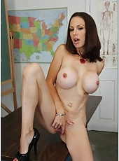 Busty princess McKenzie Lee undresses for a hardcore and hot fuck