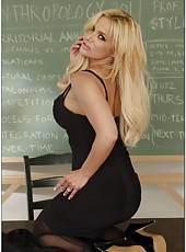 Unmatched, dangerously exciting blonde teacher Shyla Stylez seduces her student