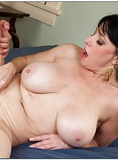 Excellent fatty Karen Kougar enjoying her neighbor