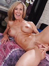 Irresistable milf Brandi Love gets fucked by hot bald man while her husband is away