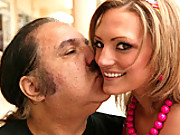 Hot young whore gets some fat old Ron Jeremy cock in her