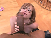 Naomi Cruise Begs For Hot Cum As She Sucks Giant Cock