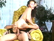 Loni Sanders sucks and rides a massive cock