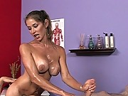 Busty masseuse gives extra forbidden services