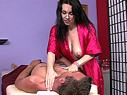 A guy tries to get sex service from his masseuse
