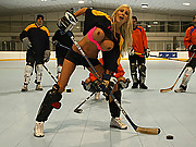 Busty Hockey Player tackling on the biggest cock of the opposition
