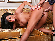 Hot brunette slut gets pounded hard