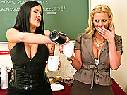 Carmella and Phoenix fucking a student for an A on his assignment