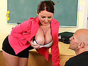 Busty Teacher enjoying a fucking good time
