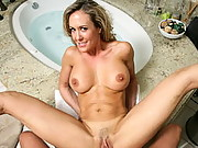 Mrs. Love is relaxing in her tub after a good workout. She�s surprised to see her husband home so soon, but since he owns the company, he can do whatever he wants, such as getting a blow job in the tub from his beautiful wife�