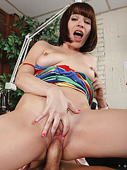 Dana DeArmond is trying to enjoy her vacation but her braces are getting in the way of her fun. She�s not too sure about the dentist�s medical qualifications but she is impressed by the instrument in his pants!!