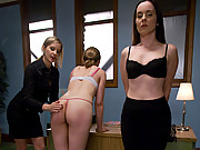 Two girls compete for one job in lesbian BDSM..