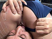 Slutty British blonde fucking the senior Jim