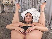 Hot & horny Johane Johansson loving her sexy feet & toes