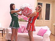 Young cheerleaders have lesbian sex with peeing and fetish